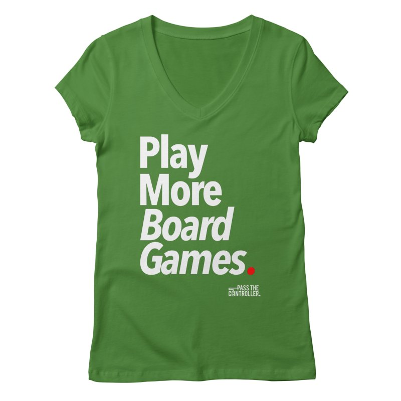 Play More Board Games (Series 1) Women's Regular V-Neck by Official Pass The Controller Store