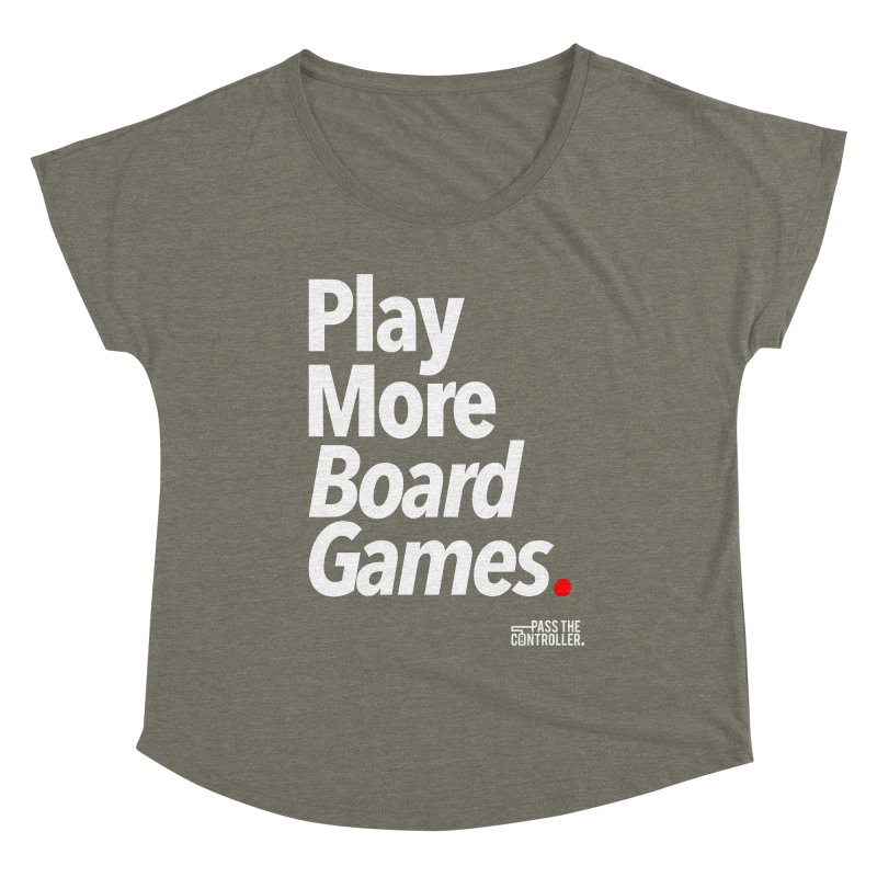Play More Board Games (Series 1) Women's Scoop Neck by Official Pass The Controller Store