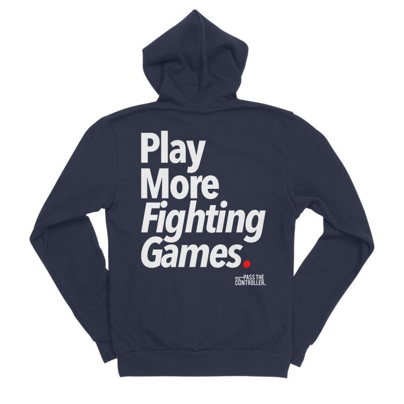 Play More Fighting Games (Series 1) Men's Zip-Up Hoody by Official Pass The Controller Store