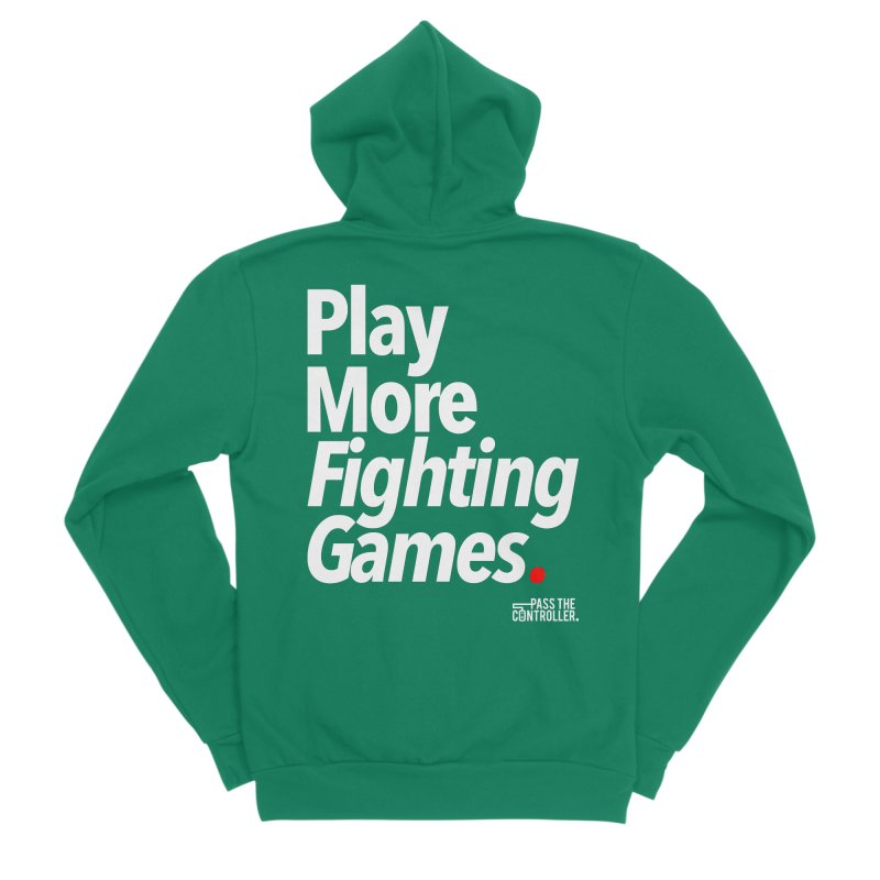 Play More Fighting Games (Series 1) Women's Sponge Fleece Zip-Up Hoody by Official Pass The Controller Store