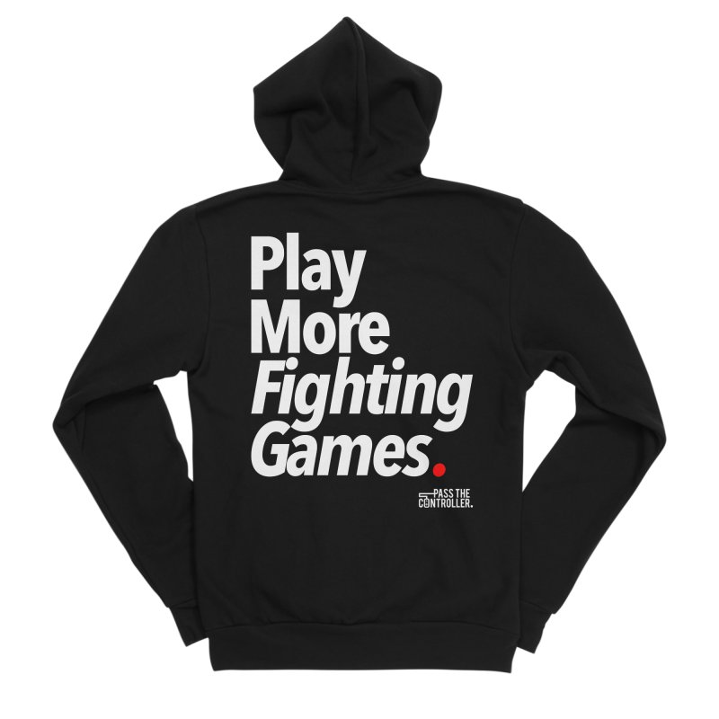 Play More Fighting Games (Series 1) Men's Sponge Fleece Zip-Up Hoody by Official Pass The Controller Store