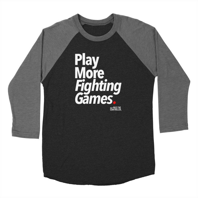 Play More Fighting Games (Series 1) Men's Baseball Triblend Longsleeve T-Shirt by Official Pass The Controller Store
