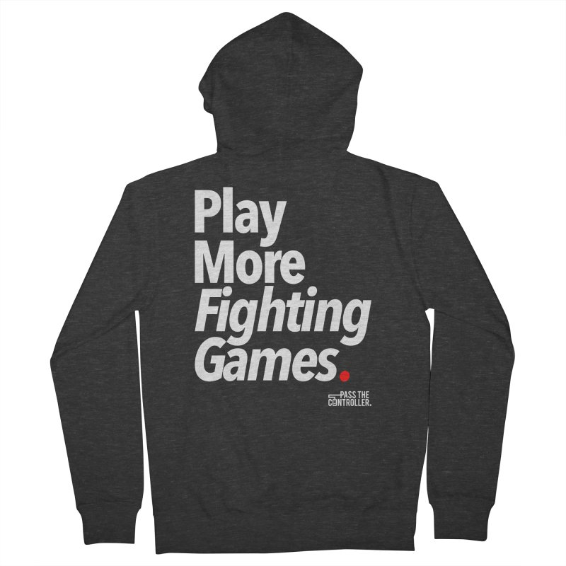 Play More Fighting Games (Series 1) Men's French Terry Zip-Up Hoody by Official Pass The Controller Store