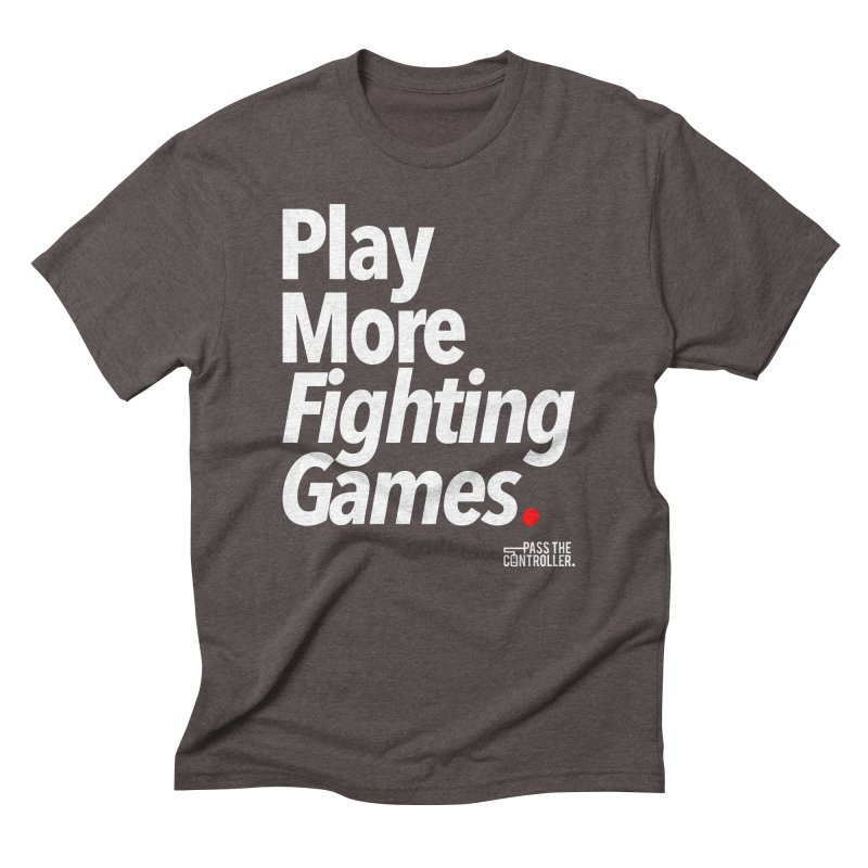 Play More Fighting Games (Series 1) Men's Triblend T-Shirt by Official Pass The Controller Store