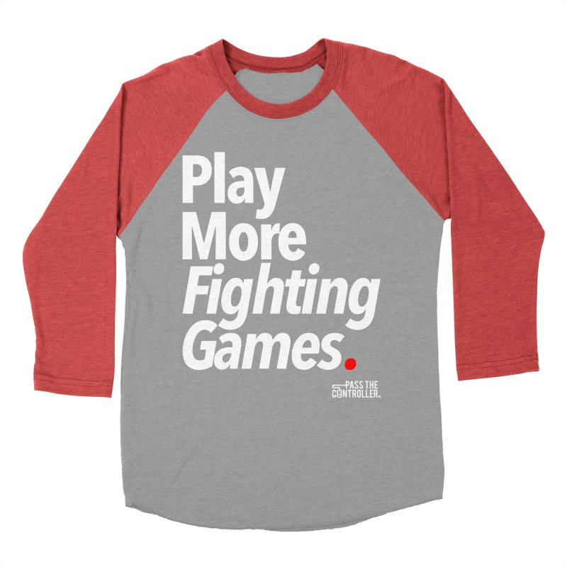Play More Fighting Games (Series 1) Women's Baseball Triblend Longsleeve T-Shirt by Official Pass The Controller Store