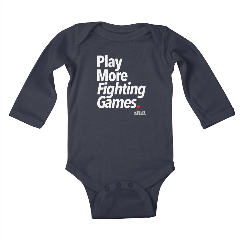Play More Fighting Games (Series 1) Kids Baby Longsleeve Bodysuit by Official Pass The Controller Store