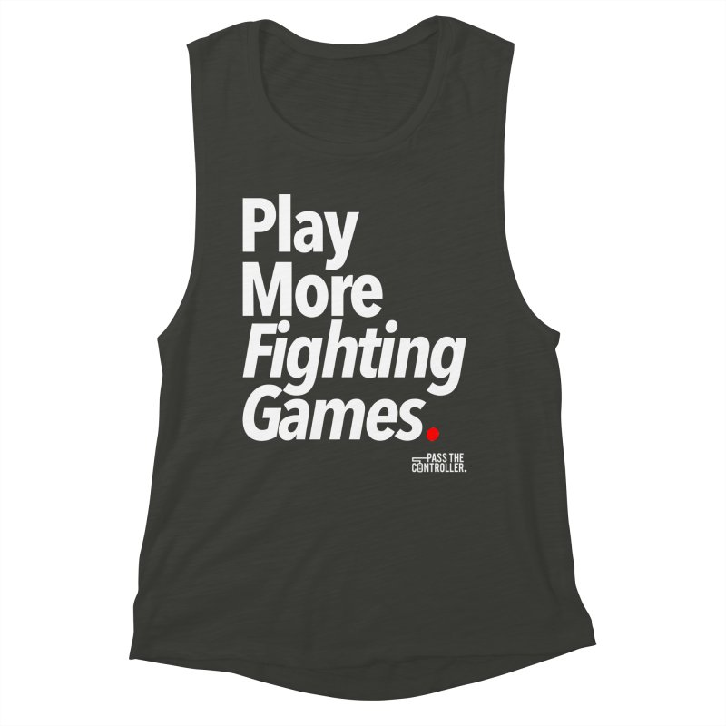 Play More Fighting Games (Series 1) Women's Muscle Tank by Official Pass The Controller Store