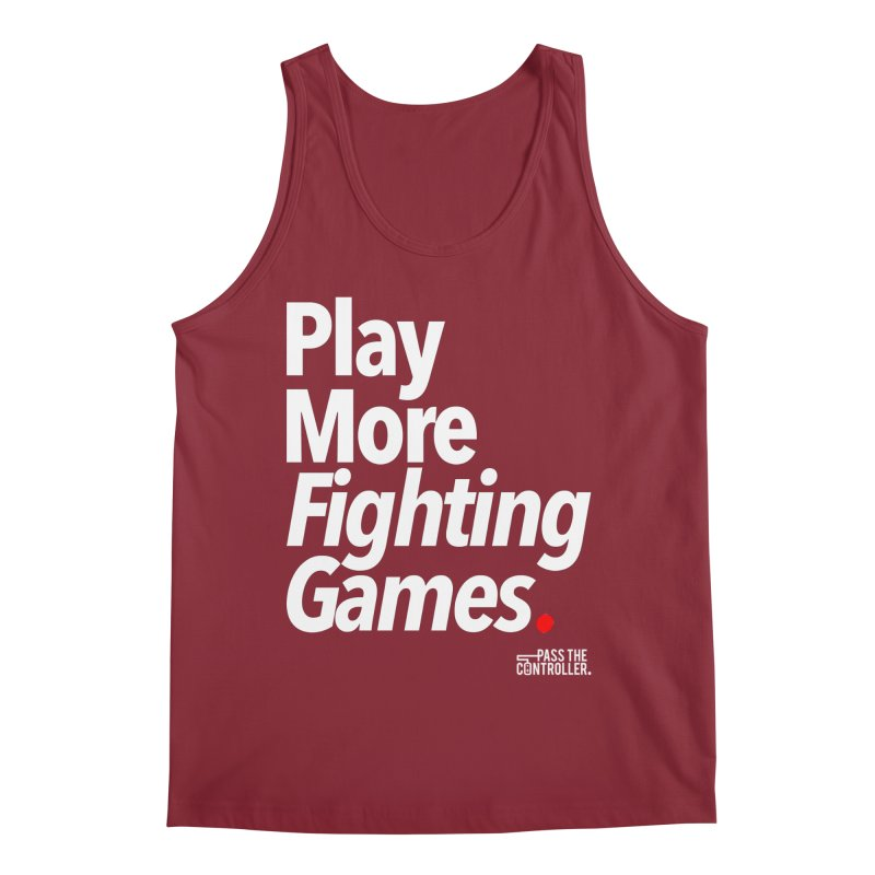 Play More Fighting Games (Series 1) Men's Tank by Official Pass The Controller Store