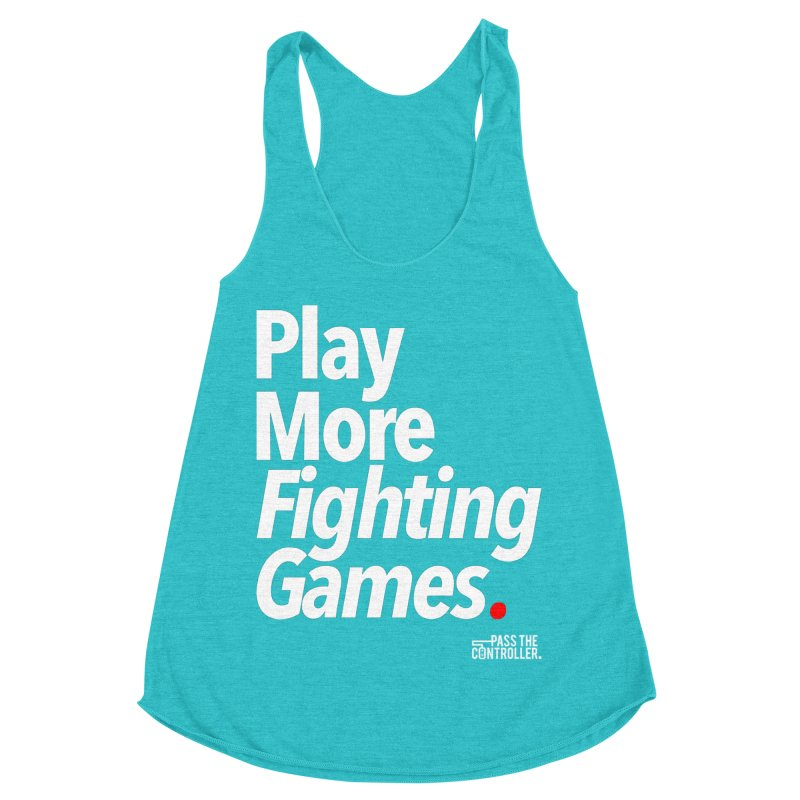 Play More Fighting Games (Series 1) Women's Racerback Triblend Tank by Official Pass The Controller Store