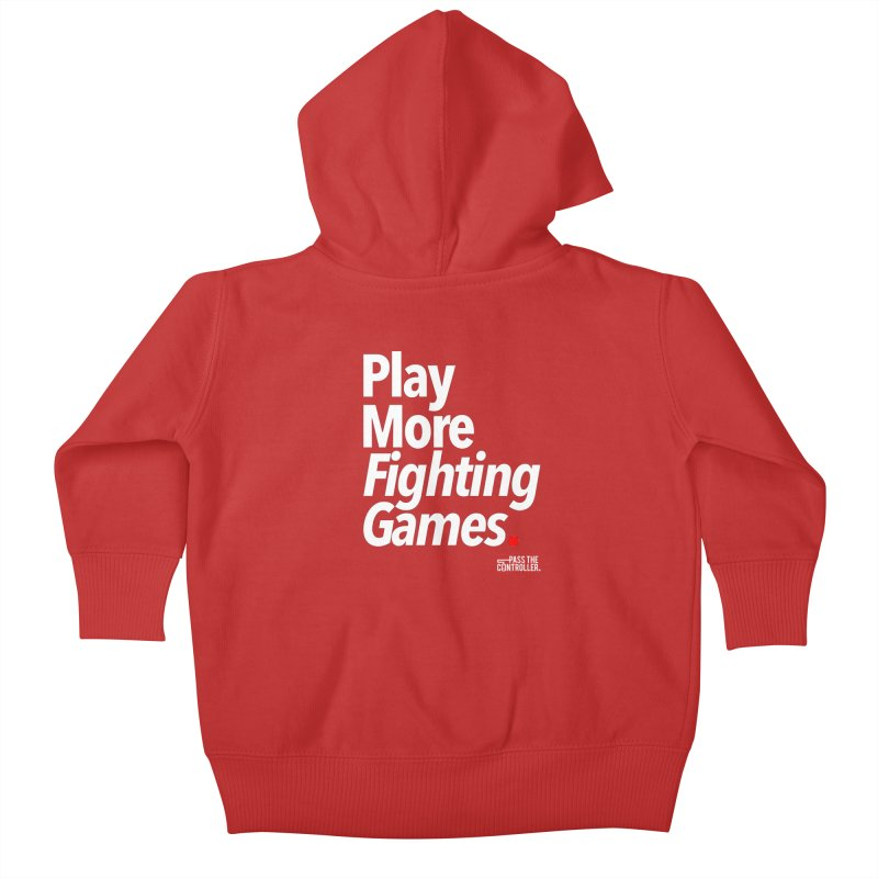 Play More Fighting Games (Series 1) Kids Baby Zip-Up Hoody by Official Pass The Controller Store
