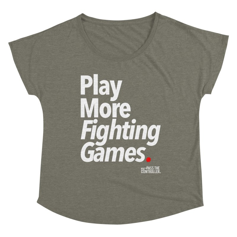 Play More Fighting Games (Series 1) Women's Scoop Neck by Official Pass The Controller Store
