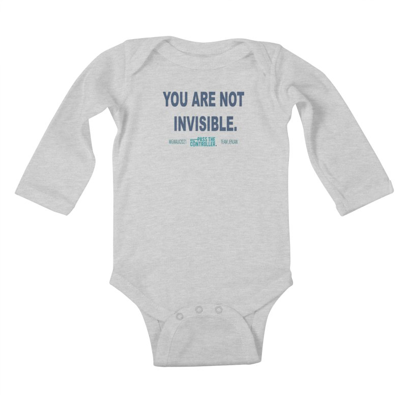 You Are Not Invisible - 2021 Kids Baby Longsleeve Bodysuit by Official Pass The Controller Store