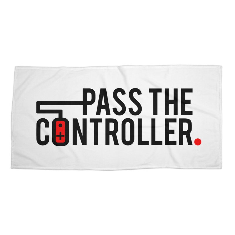Pass The Controller Logo Accessories Beach Towel by Official Pass The Controller Store