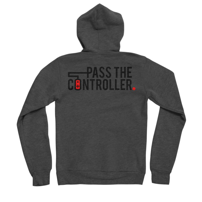Pass The Controller Logo Men's Zip-Up Hoody by Official Pass The Controller Store