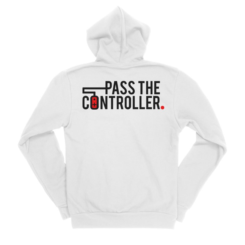 Pass The Controller Logo Men's Sponge Fleece Zip-Up Hoody by Official Pass The Controller Store