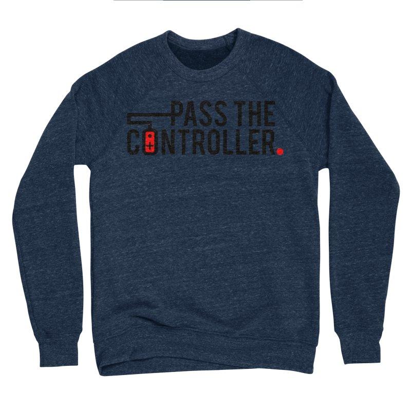 Pass The Controller Logo Men's Sponge Fleece Sweatshirt by Official Pass The Controller Store
