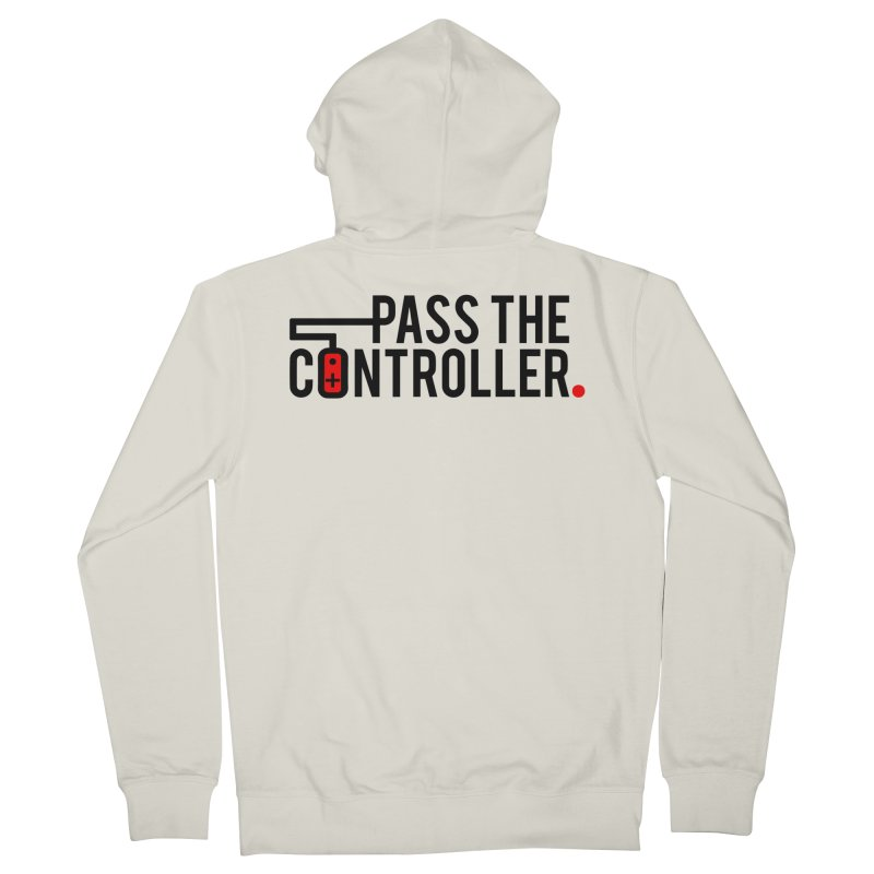 Pass The Controller Logo Women's French Terry Zip-Up Hoody by Official Pass The Controller Store