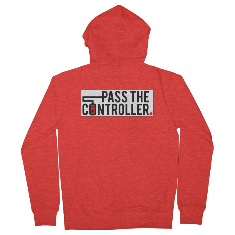 Pass The Controller Logo Pop Women's Zip-Up Hoody by Official Pass The Controller Store