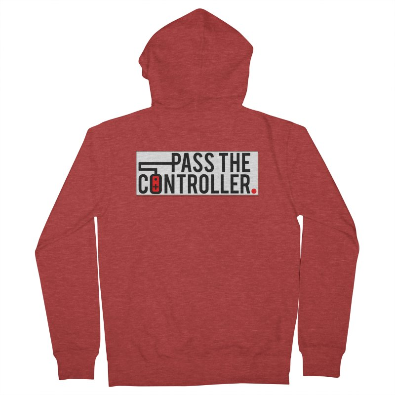 Pass The Controller Logo Pop Women's Zip-Up Hoody by Official Pass The Controller Store