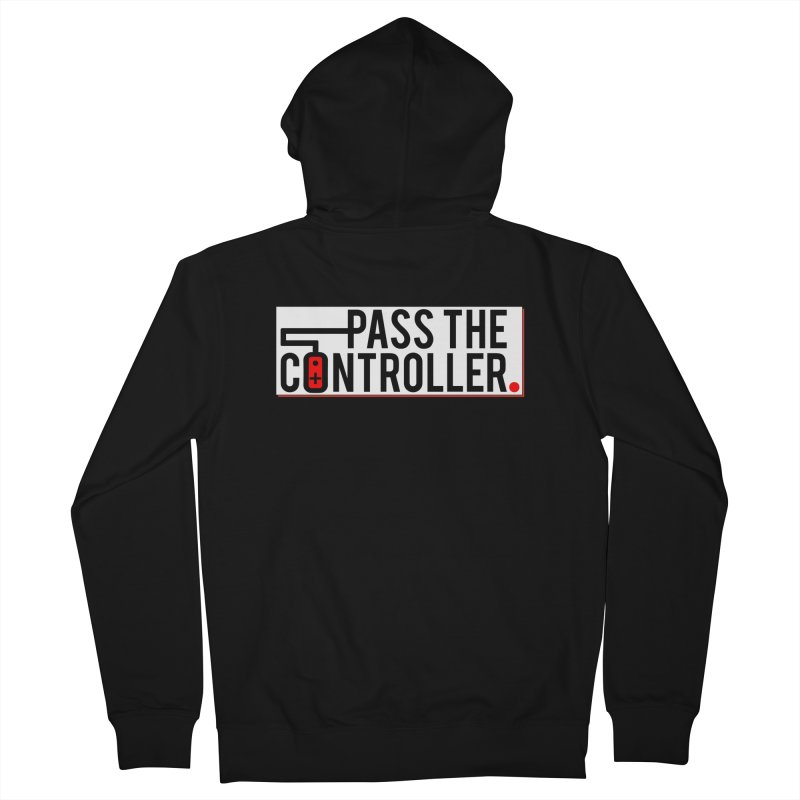 Pass The Controller Logo Pop Women's French Terry Zip-Up Hoody by Official Pass The Controller Store