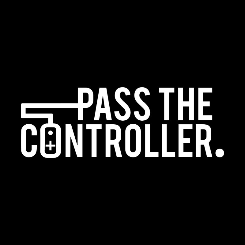 White Out Logo Men's Sweatshirt by Official Pass The Controller Store
