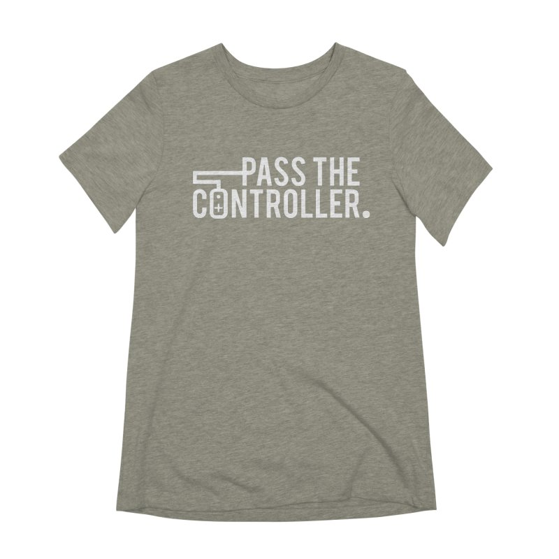 White Out Logo Women's T-Shirt by Official Pass The Controller Store