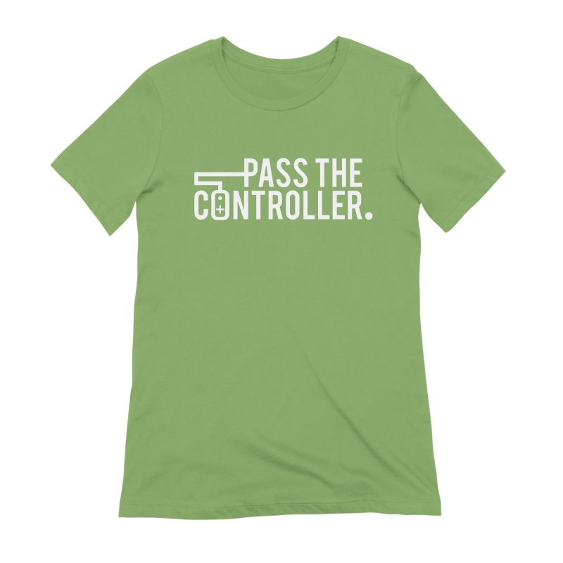 White Out Logo Women's Extra Soft T-Shirt by Official Pass The Controller Store