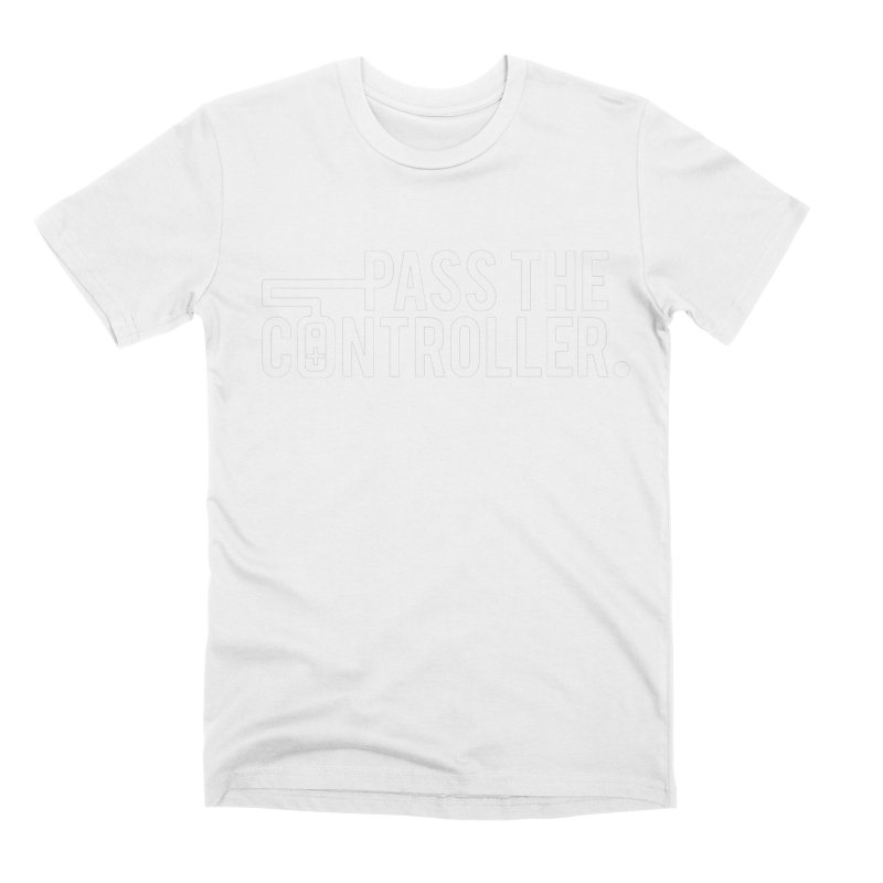 White Out Logo Men's T-Shirt by Official Pass The Controller Store
