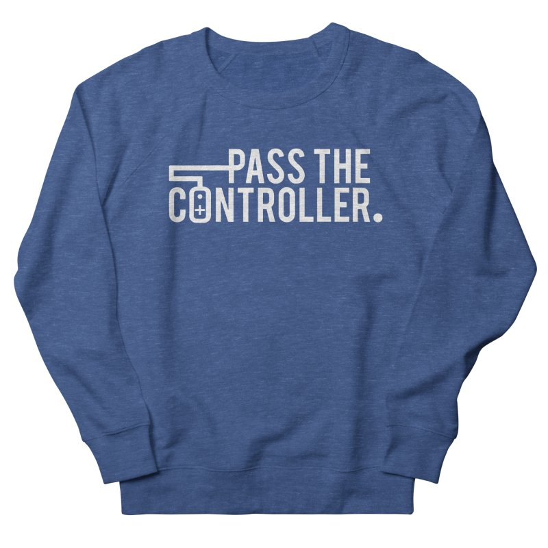 White Out Logo Women's Sweatshirt by Official Pass The Controller Store