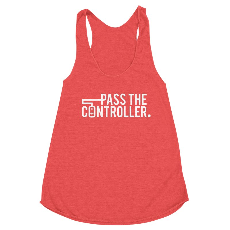 White Out Logo Women's Tank by Official Pass The Controller Store