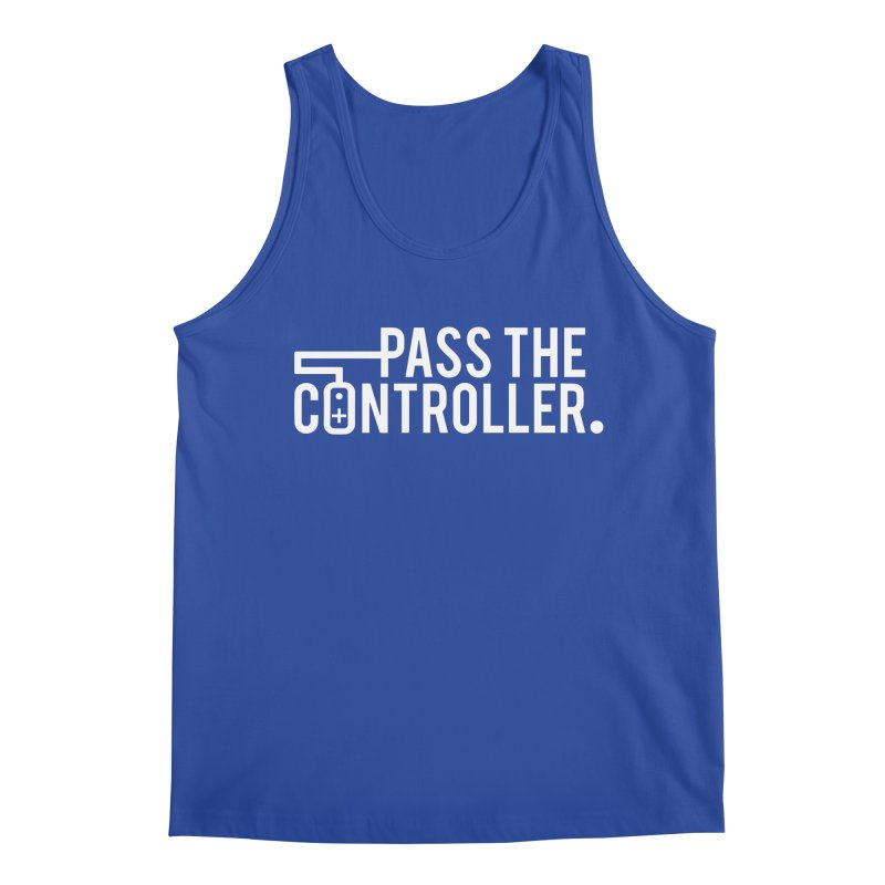 White Out Logo Men's Regular Tank by Official Pass The Controller Store