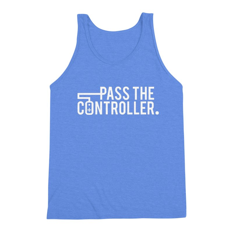 White Out Logo Men's Triblend Tank by Official Pass The Controller Store