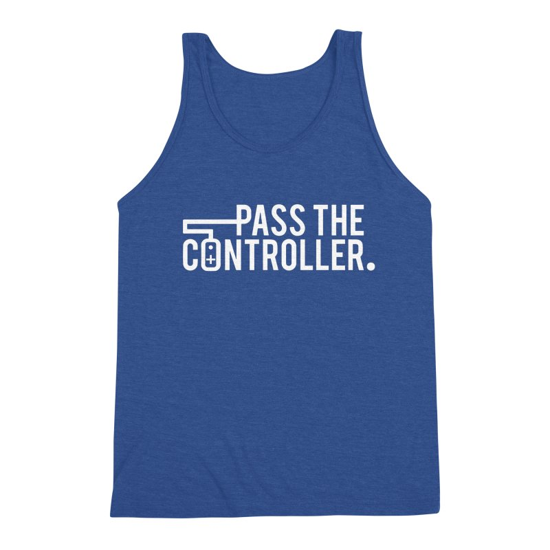 White Out Logo Men's Tank by Official Pass The Controller Store