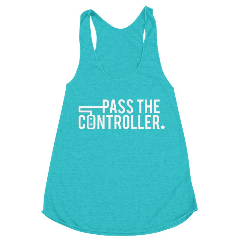 White Out Logo Women's Racerback Triblend Tank by Official Pass The Controller Store
