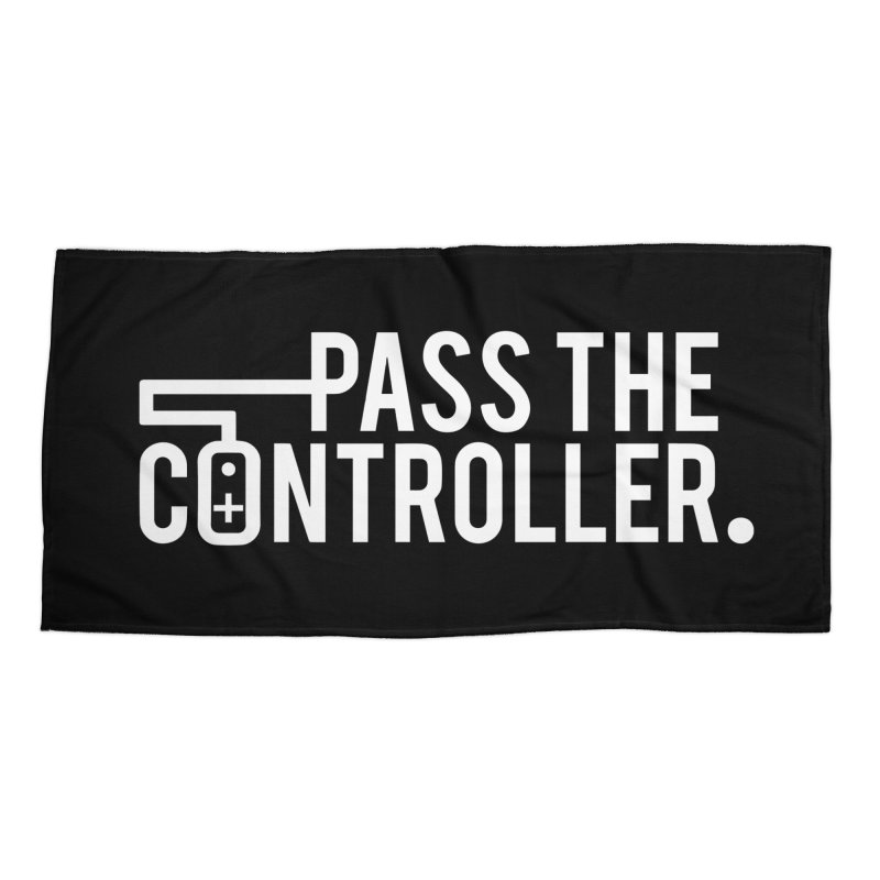 White Out Logo Accessories Beach Towel by Official Pass The Controller Store