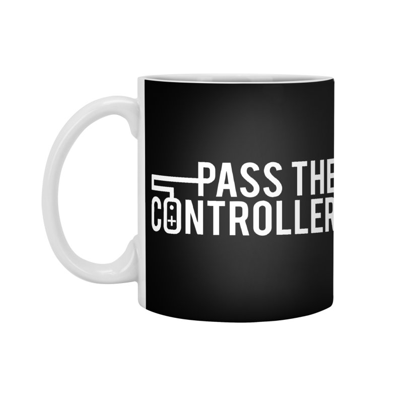 White Out Logo Accessories Standard Mug by Official Pass The Controller Store