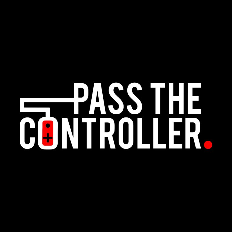White/Black/Red Logo Men's T-Shirt by Official Pass The Controller Store