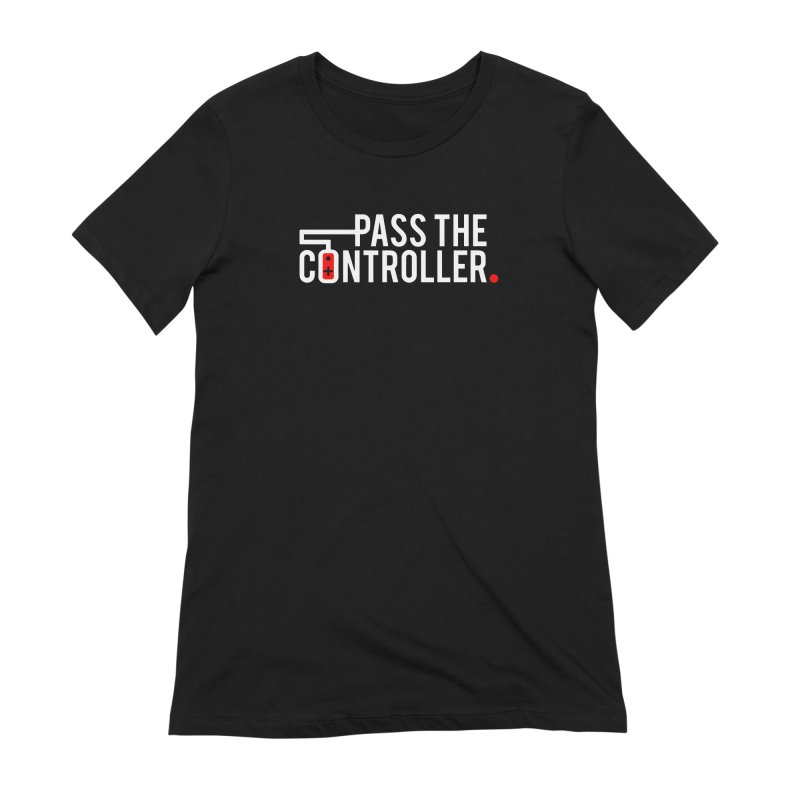 White/Black/Red Logo Women's T-Shirt by Official Pass The Controller Store