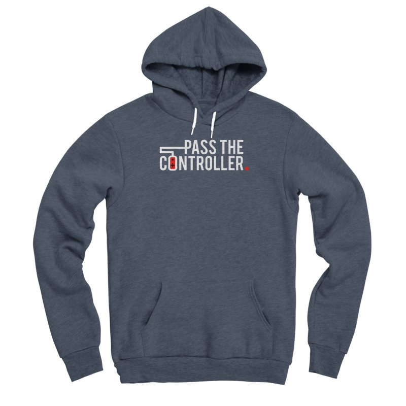White/Black/Red Logo Men's Pullover Hoody by Official Pass The Controller Store