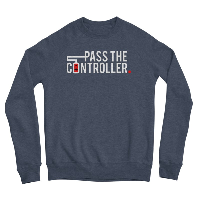 White/Black/Red Logo Men's Sweatshirt by Official Pass The Controller Store