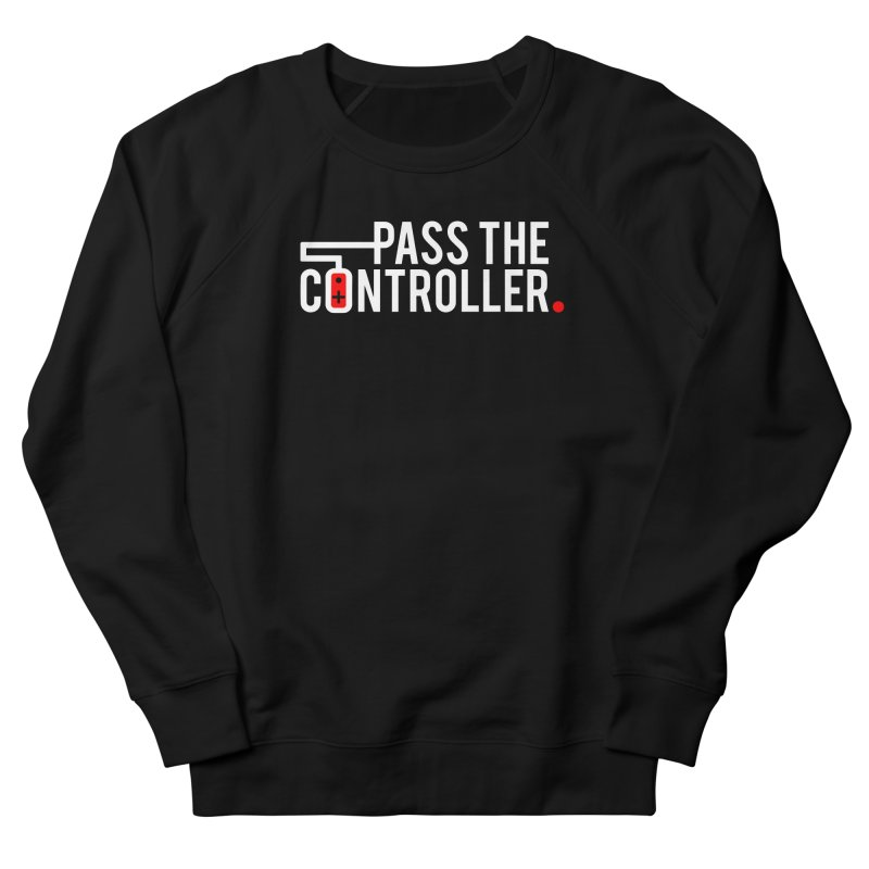 White/Black/Red Logo Men's French Terry Sweatshirt by Official Pass The Controller Store