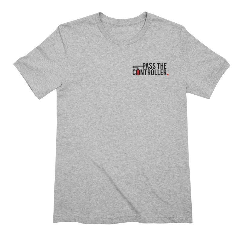 Classic Corner Logo Men's Extra Soft T-Shirt by Official Pass The Controller Store
