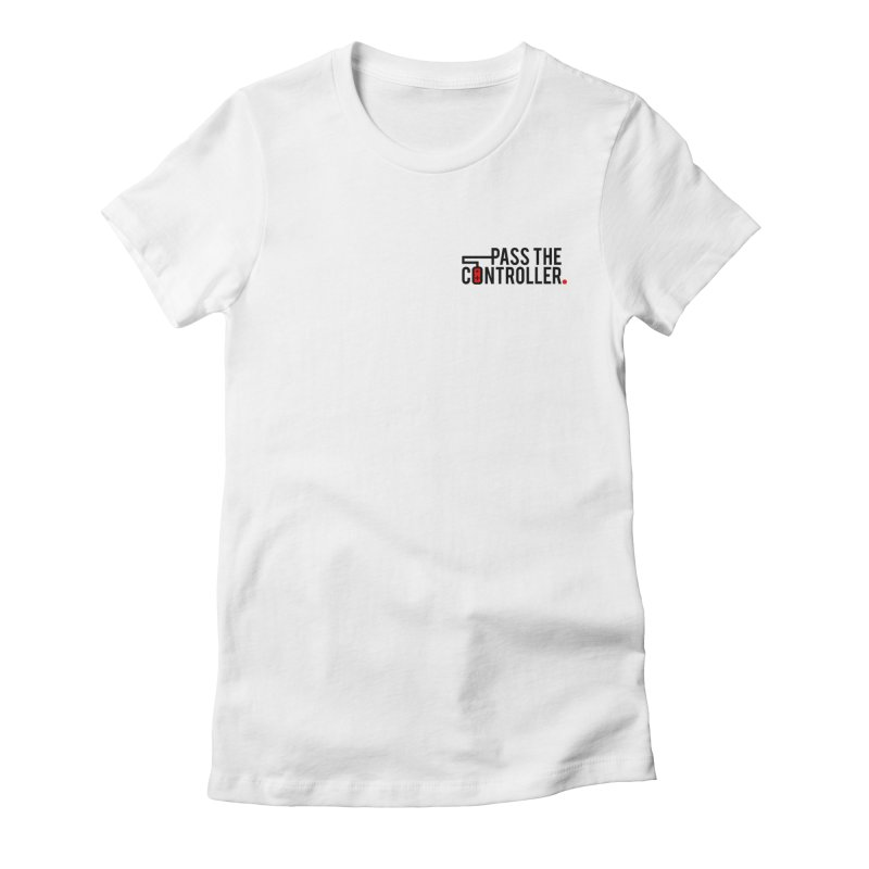 Classic Corner Logo Women's Fitted T-Shirt by Official Pass The Controller Store