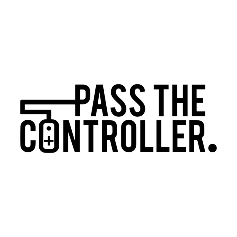 Pass The Controller (Black) Men's Longsleeve T-Shirt by Official Pass The Controller Store