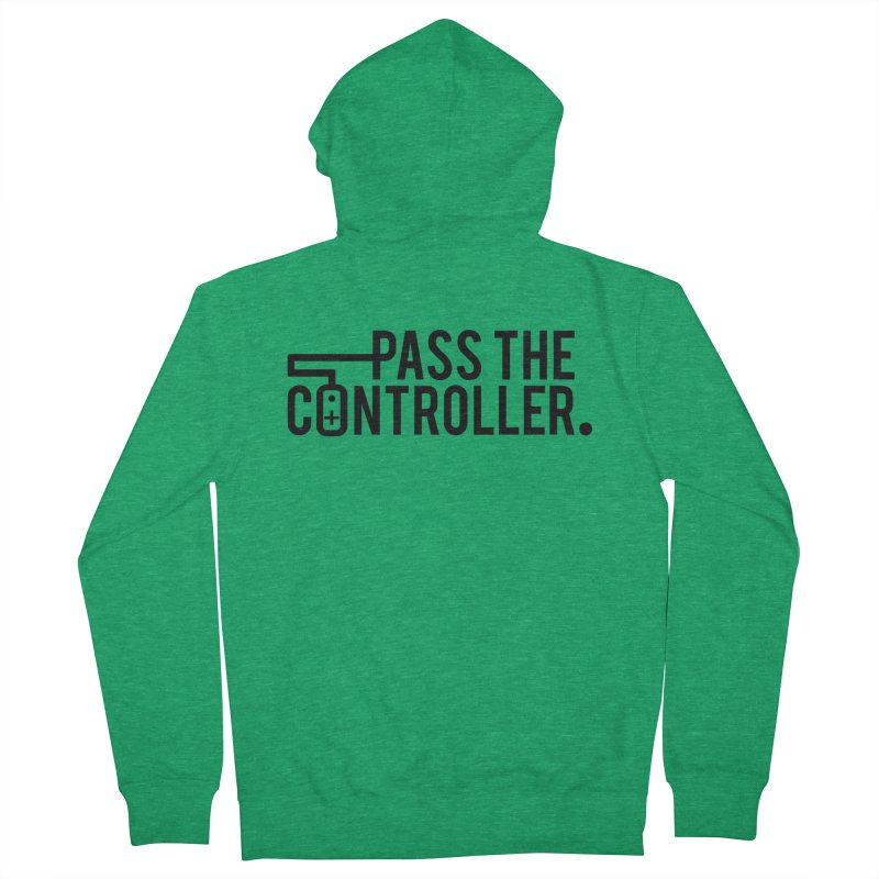 Pass The Controller (Black) Women's French Terry Zip-Up Hoody by Official Pass The Controller Store