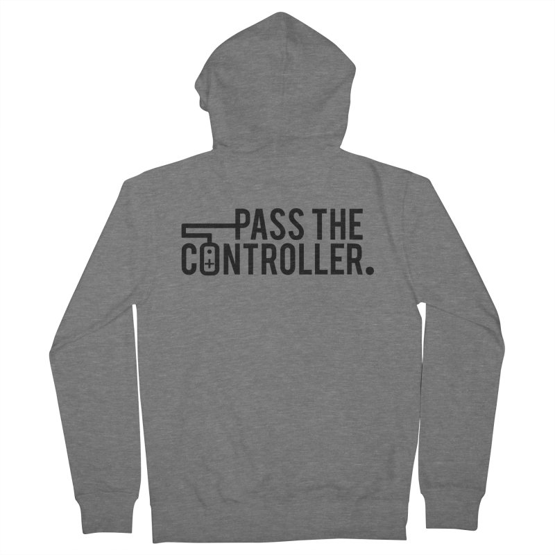 Pass The Controller (Black) Men's French Terry Zip-Up Hoody by Official Pass The Controller Store