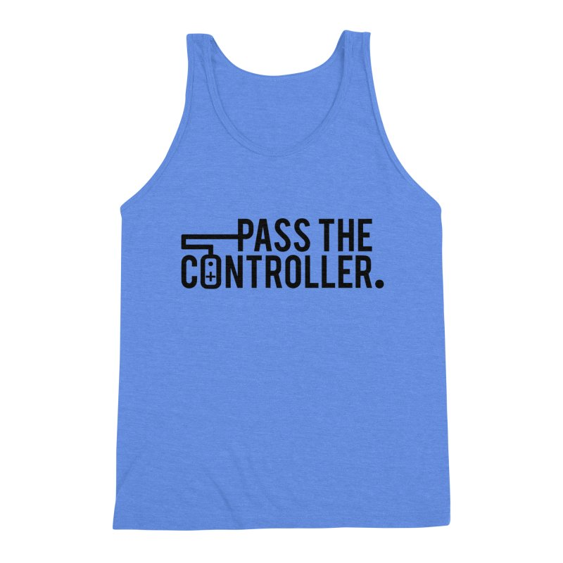 Pass The Controller (Black) Men's Triblend Tank by Official Pass The Controller Store