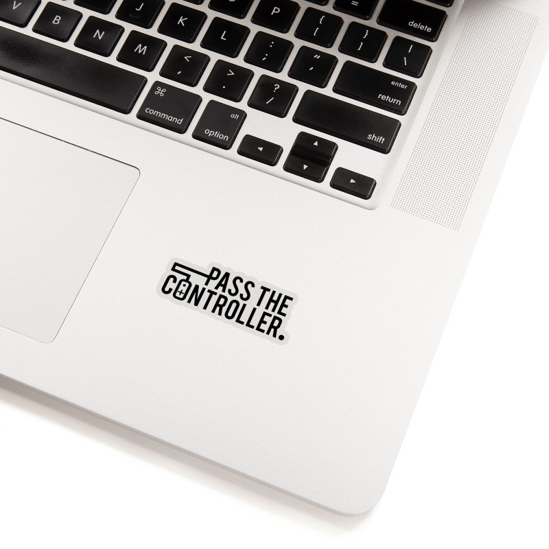 Pass The Controller (Black) Accessories Sticker by Official Pass The Controller Store