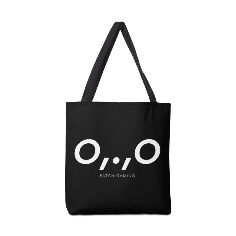 DinoFace White Accessories Bag by Patch Gaming's Merchandise Shop