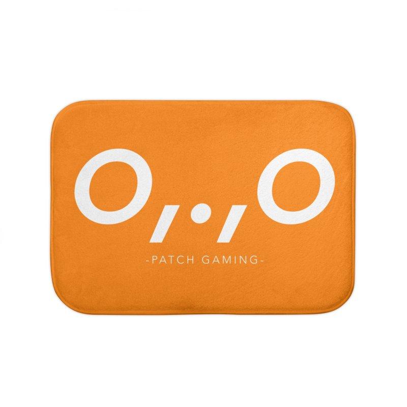 Galahir's Orange Dinoface Home Bath Mat by Patch Gaming's Merchandise Shop